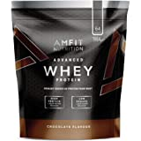 Amazon Brand- Amfit Nutrition - Advanced Whey Protein Powder Chocolate, 64 Servings, 1984 g