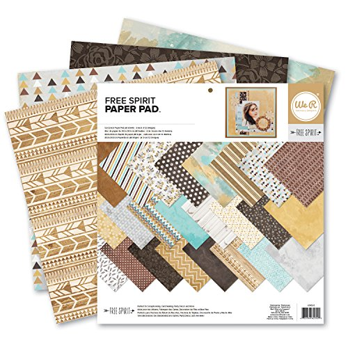 We R Memory Keepers Free Spirit 12 x 12 Inch Paper Pad (Punch Paper Designer)