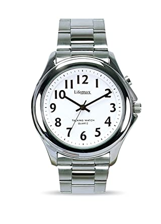 lifemax rnib men s talking watch 411 5 bracelet amazon co uk lifemax rnib men s talking watch 411 5 bracelet