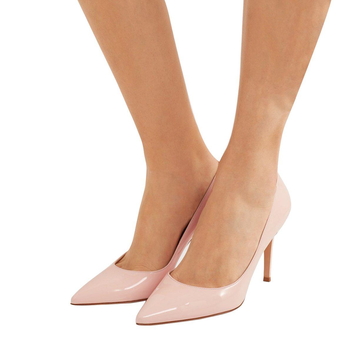 5d0a76668ed5b Amazon.com | FSJ Women Formal Pointy Toe Pumps Stiletto High Heels ...