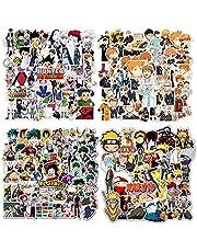 200 Stks Anime Stickers, Gemengde Naruto Stickers Hunter x Hunter Stickers My Hero Academia Stickers Haikyuu Stickers Waterdicht Vinyl Stickers Skateboard Laptop Stickers voor tieners Cartoon Decal