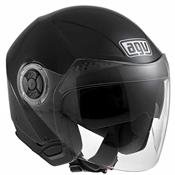 AGV Jet New Citylight Solid - Casco, color negro brillante Talla:S