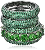 Noir Jewelry Green Miranda Stackable Ring, Size 7