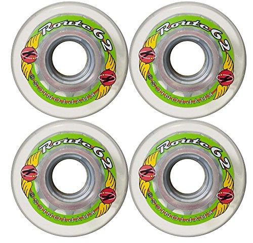 KRYPTONICS Route 62MM 78A Clear Longboard Cruiser Skateboard Wheels (Skateboard Wheels 62mm)