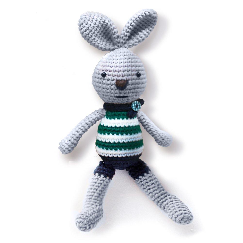 Amazon Ihanco My Dear Friend Bunny Knitting Doll Gray