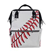 Baseball Laces Diaper Bags Nappy Backpacks Mummy Backpack Travel Laptop Daypack