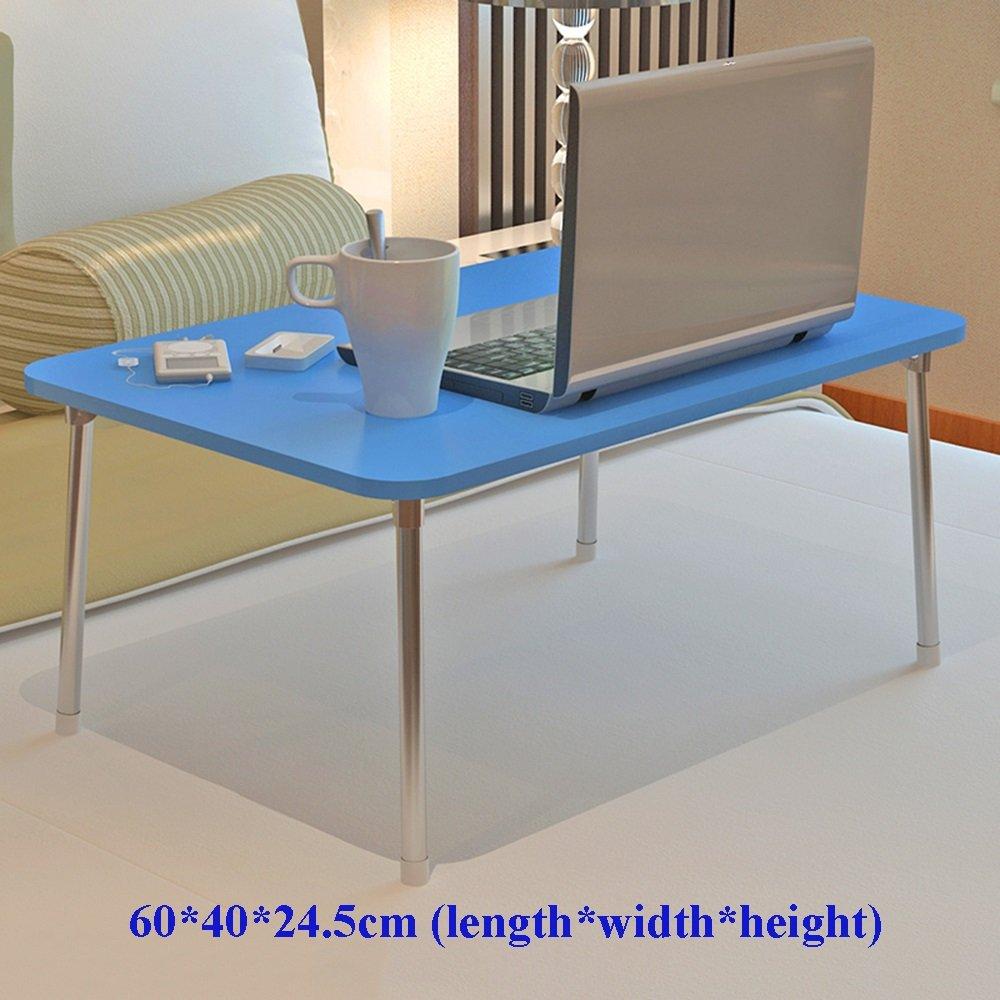 XIA 折り畳みテーブル コンピュータデスクデスクトップラップトップテーブルレイジーテーブルピンクブルー48.2 * 30.2 * 25.5cm 60 * 40 * 24.5cm学生用テーブルドミトリースモールテーブル折り畳み式ベッドの使用デスクの研究用テーブル ( 色 : 青 , サイズ さいず : 60*40*24.5cm ) B07C9T2DJ5青 60*40*24.5cm