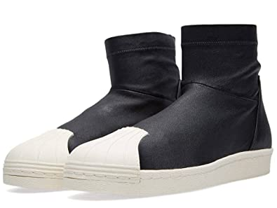 Rick Owens x adidas SUPERSTAR ANKLE BOOT in Black / Light Bone (12 US)