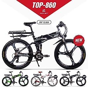 611d8DziS9L. SS300 GUOWEI Rich Bit RT-860 36V 12.8AH 250W Bicicletta elettrica Pieghevole a Sospensione Completa City Bike