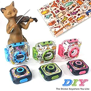 Prismtec Best Digital Kids Camera For Girls Boys,HD Video Action Camera Toy For Children Holiday Birthday camcorder,with Games Bag Hand Leash Head Strap Funny Sticker,30m Waterproof (green)