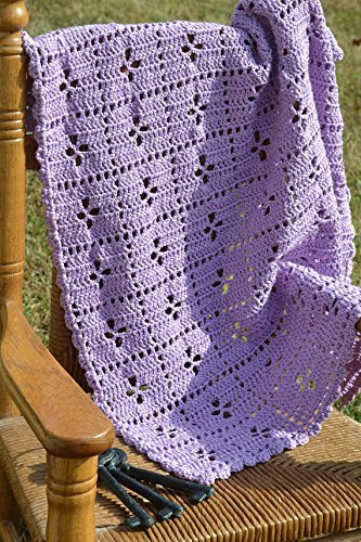 Midwife Pattern Hand-Crocheted Baby Blanket by Kat's Keepsakes