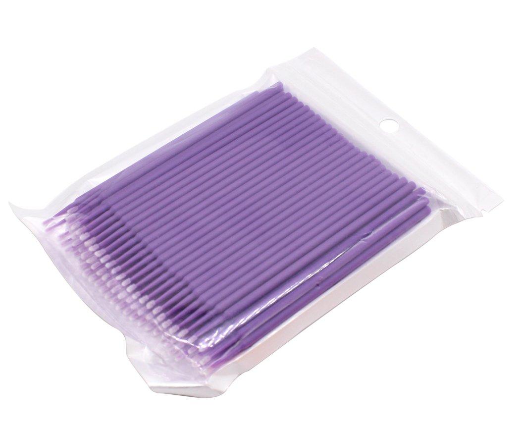 Hillento 400 pcs tampons de coton jetables vert extension de cils jetables tatouage pinceaux de maquillage cotons-tiges bton avec poign/ée en plastique
