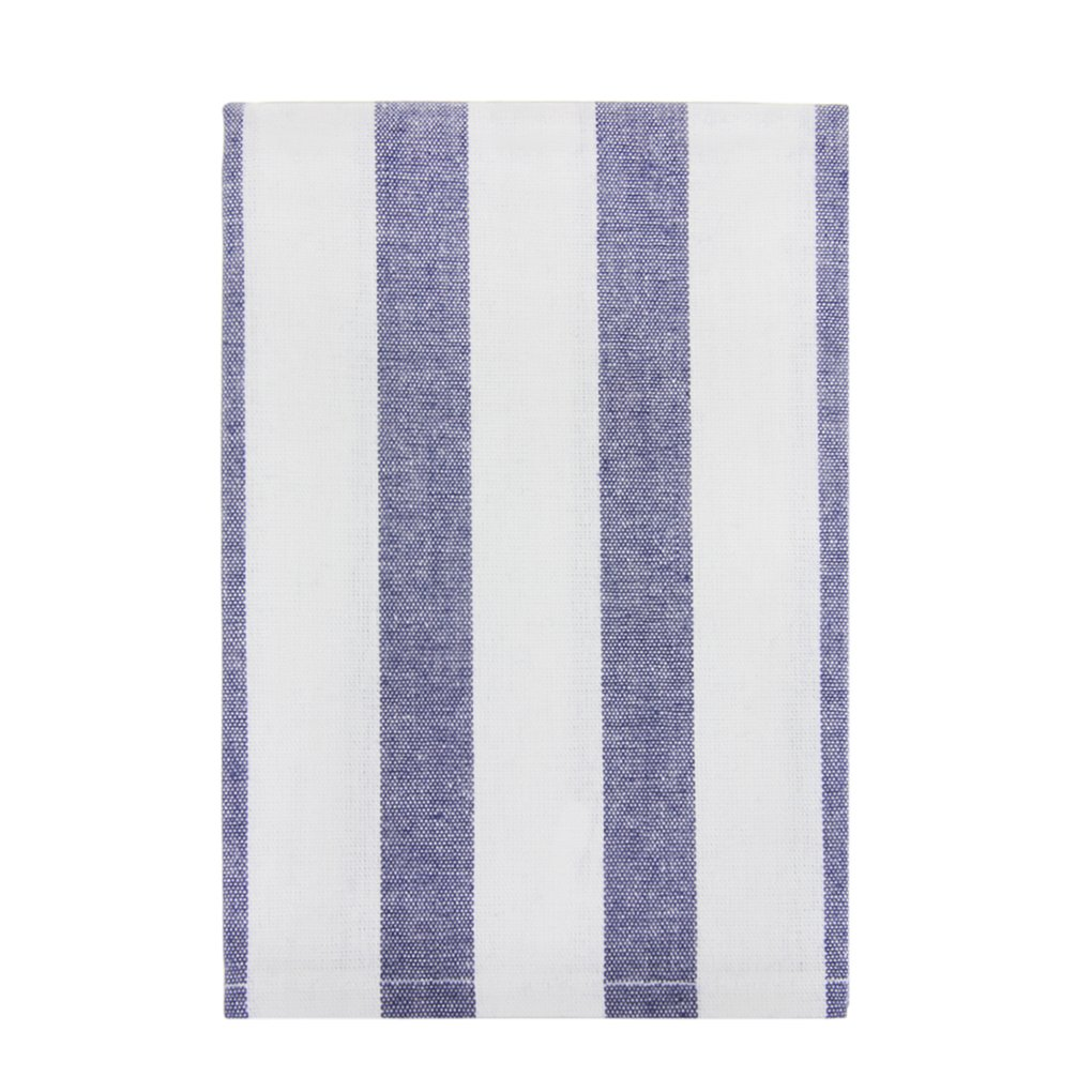 100% Cotton Classical Striped Everyday Basic Buffet Party Cloth Napkin Table Placemat Kitchen Dish Tea Towels,15.7'' x 23.6'', Navy Blue and White,Set of 4