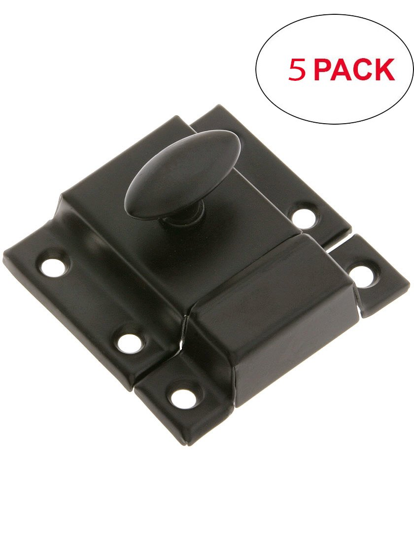 R-08BM-1618-OB-5 Large Pressed Steel Cabinet Latch with Plated Finish in Oil-Rubbed Bronze (5 Pack)
