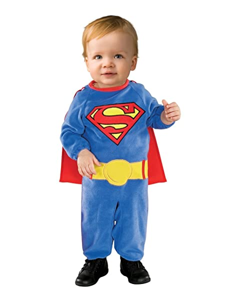 Superman bebé Romper Traje - Disfraz 12/18 meses - Fancy ...