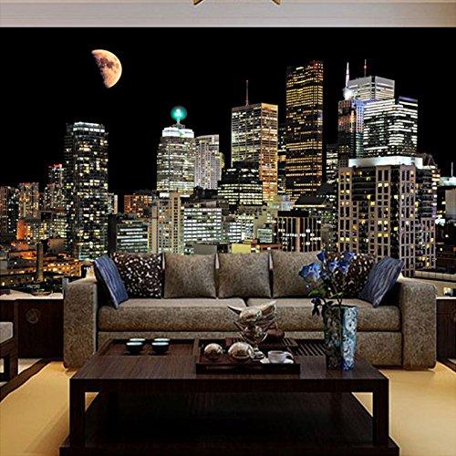 200X140Cm,高品質の 壁画の3D写真の壁紙リビングルームのテレビの背景壁画の壁紙の壁街の夜,By ZLJTYN B07F423T6Z