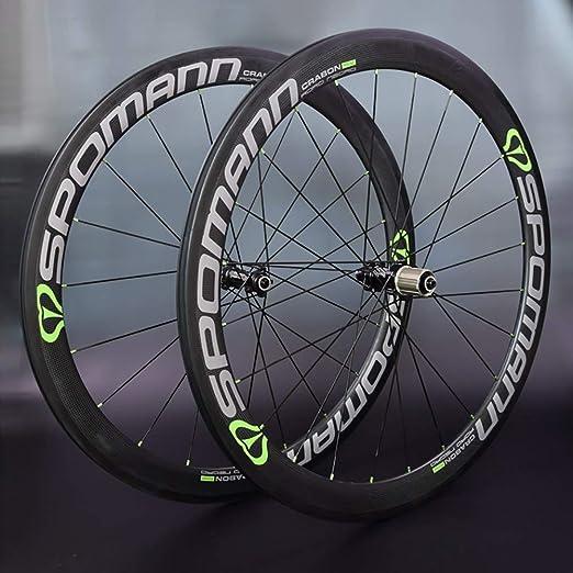 700C Carretera Bicicleta Ruedas - Carbono Clincher Tubeless Ready ...