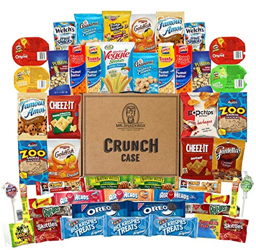 (Mega Snacks (50 Count) Variety Care Package Gift Box - College Students, Military, Work or Home - Over 3 Pounds of)