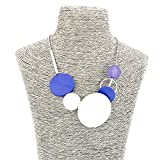 Comelyjewel Fashion Jewelry Girls Boho Long Round Wooden Charms Bubble Statement Necklace for Women