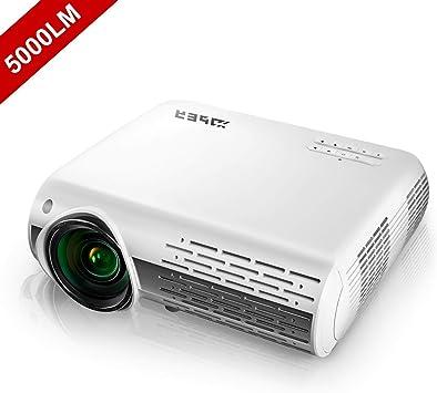 Proyector HD, YABER Proyector Cine en Casa 1080P 4500 ...