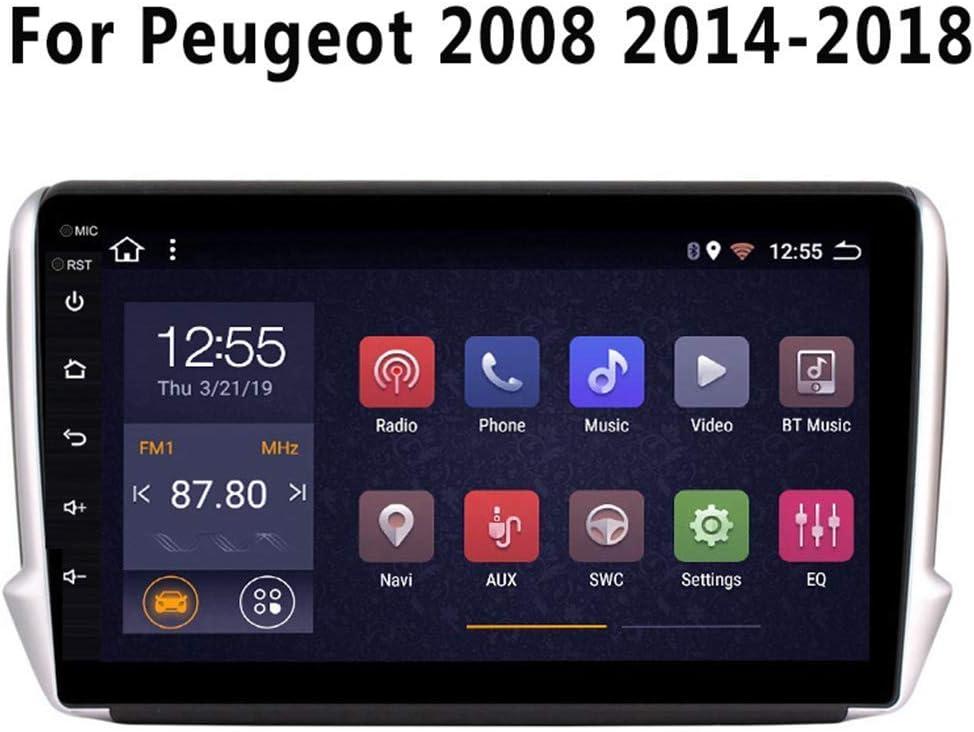 NAV Car Stereo Android GPS Radio Autoradio Giocatore di Navigazione con WiFi da 10.1 Pollici Multimedia Navigatore Satellitare Touchscreen Applicabile per Peugeot 2008 208