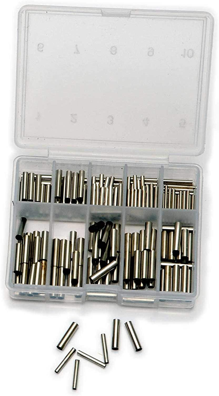 Quetschhülsen Klemmhülsen Stahlvorfach 100 Stück 8mm 5mm