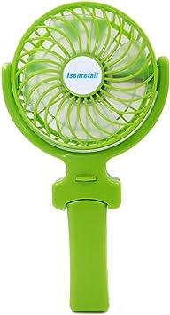 Isenretail Mini Ventilador, Mano Ventilador de Mano Recargable ...