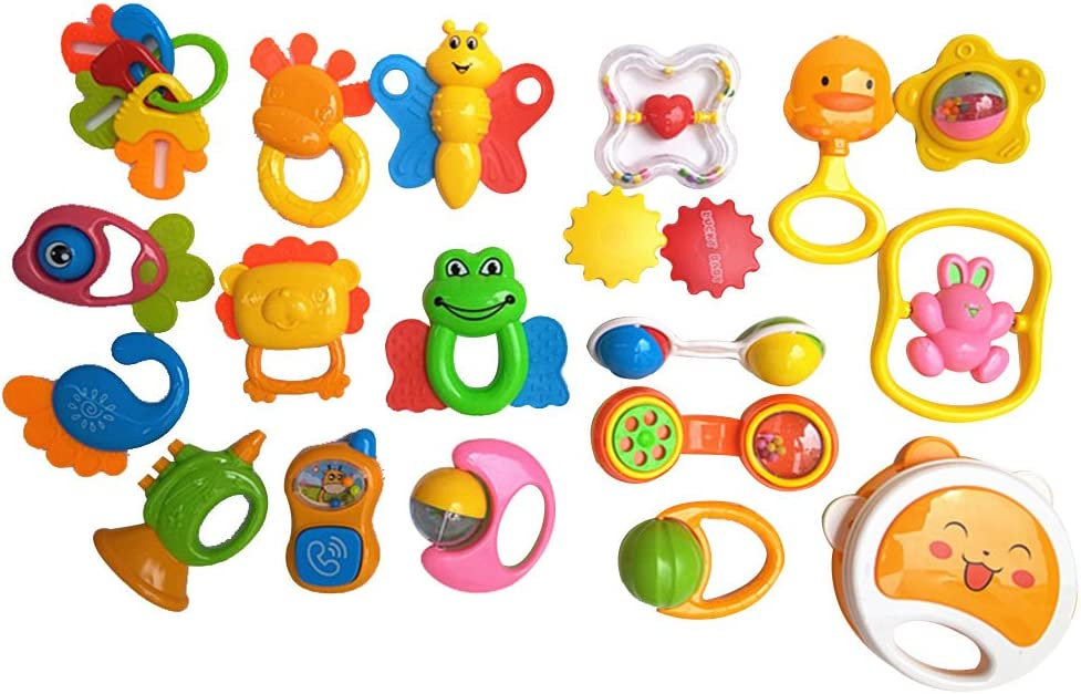 Ezyz Baby Early Educational Toy Rattles Teether Shaker Grab Spin Rattle Musical Toy 1Pc Sand Ball