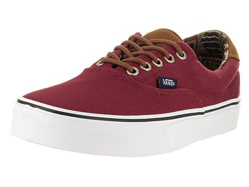 2c88a883ed Vans Unisex Era 59 C L Skate Shoe Tibeitan Red  Geo Weave 9.5 B(M) US Women    8 D(M) US Men  Amazon.in  Shoes   Handbags