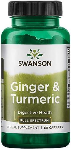 Swanson Full Spectrum Ginger Turmeric 60 Capsules