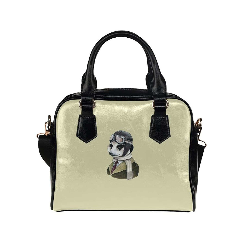 meincare Women's Animal Pilot PU leather Aslant Shoulder Tote Handbags