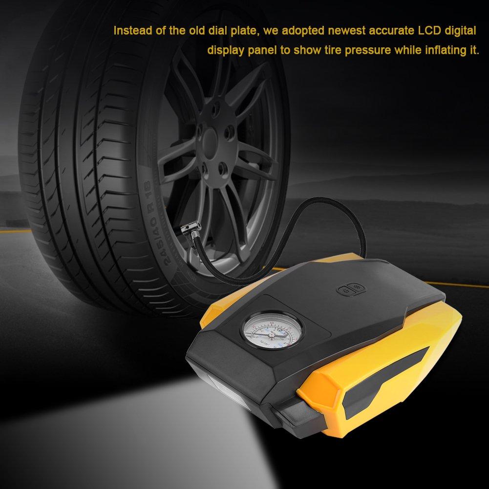 Fdit PSI Portable Tire Gonfleur Pompe /À Air Num/érique /Électrique durgence Double Cylindre Compresseur Pointeur Version Voiture M/énage