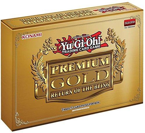 Yugioh 2015 Premium Gold Return of the Bling Series Mini-Box: 3 booster packs of 5 cards each!