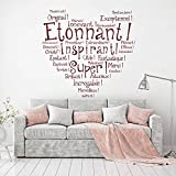 trfhjh Quotes Wall Sticker Home Art French Inspired Quotes Wall Sticker Family French Quotes Wall Decals Removable French Quotes Sticker DIY Home Decor for Bedroom Living Room Kids Room