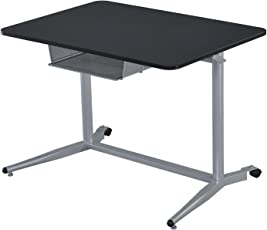 Coaster Fine Furniture 800652 Escritorio para Oficina de Metal, Color Negro/Plata