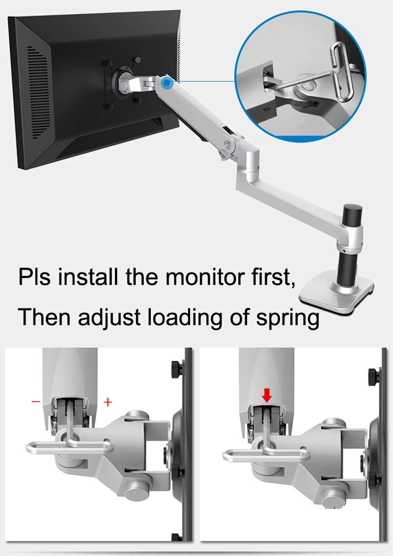 Aluminum Alloy Mechanical Spring Arm Wall Mount Laptop Holder Full Motion Laptop Mount Arm Monitor Holder Laptop Stand