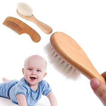 1 Satz Baby Pinsel Kamm Haar Kopf Massage Holzgriff Wolle Neugeborenen Kinder Pflege Kit Bürsten & Kämme