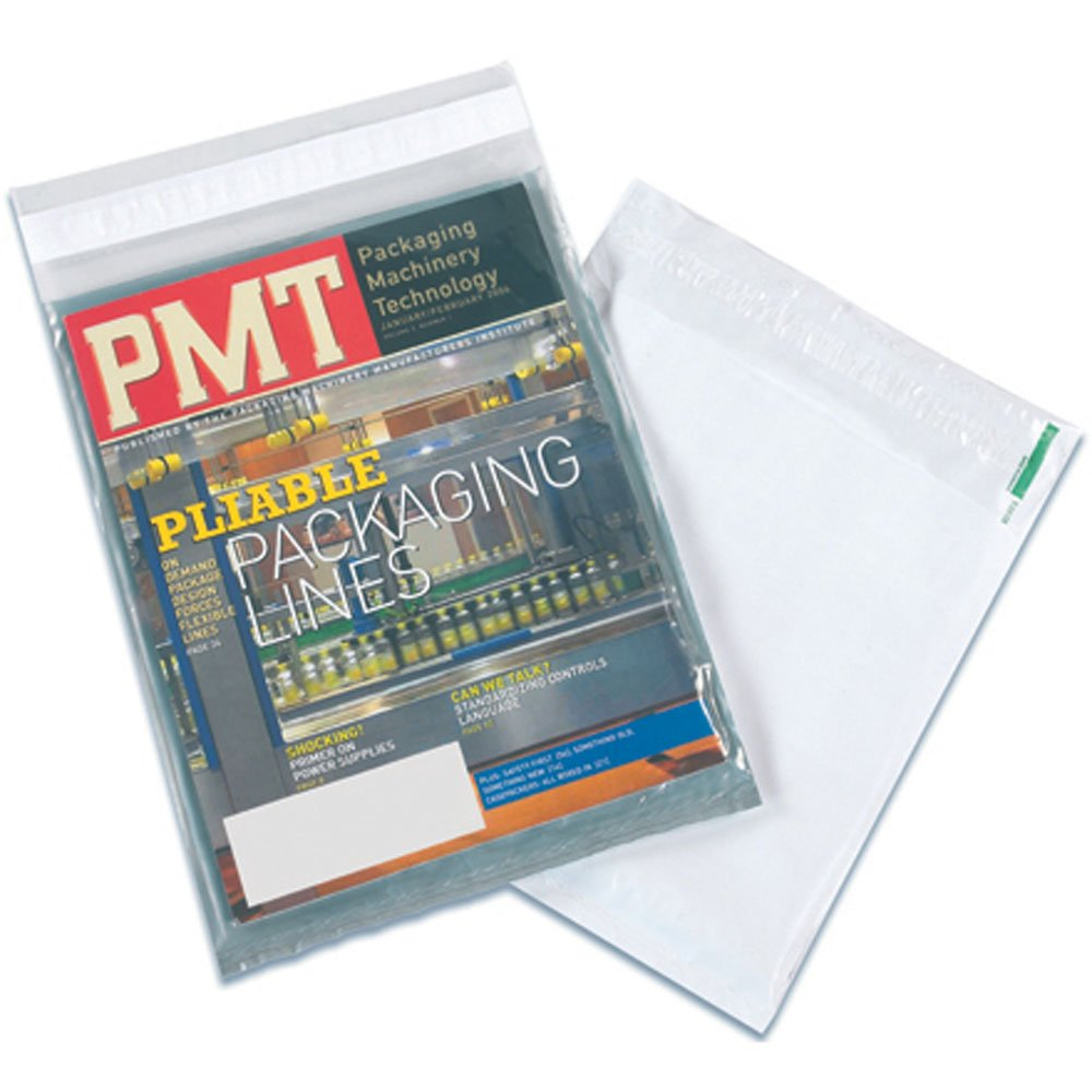 Aviditi CV912 View Polyolefin Envelope, 12'' Length x 9'' Width, Clear/White (Case of 500)