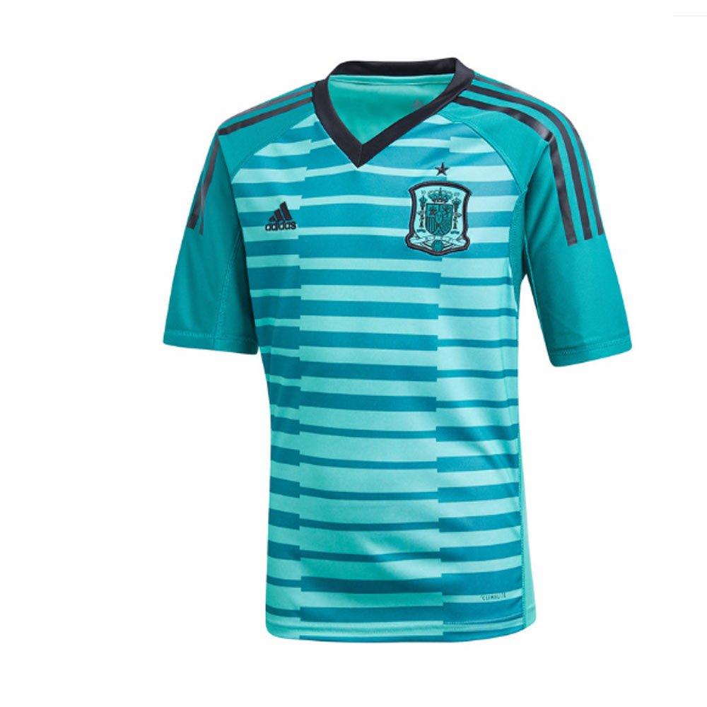 low priced 1c753 4adce UKSoccershop 2018-19 Spain Home Goalkeeper Mini Kit (David ...