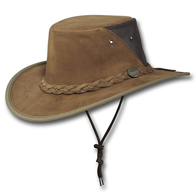 Barmah Hats Squashy T3 Traveler Leather Hat 1021RB 1021LM 1021HI - Hickory  - Large  Amazon.in  Clothing   Accessories 5d8353fde95