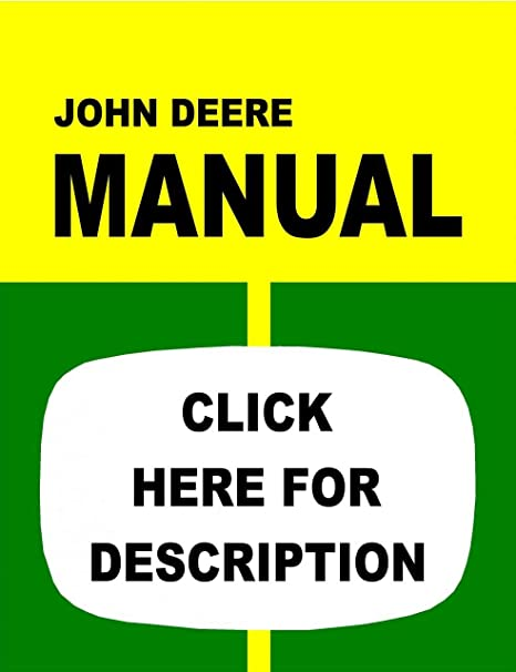 Amazon.com: John Deere 1010 Tractor Service Manual (IT Shop ... on