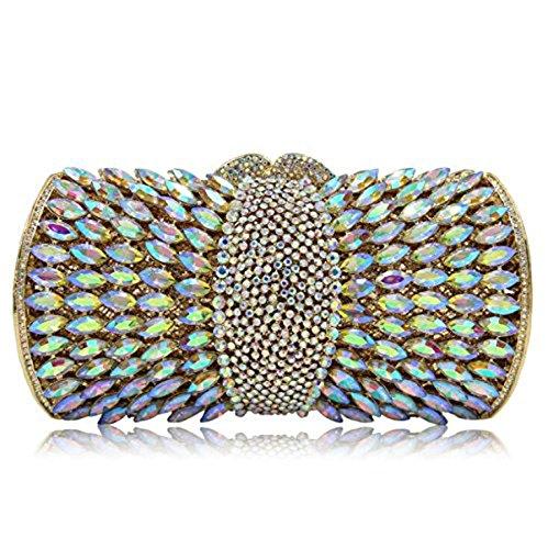 Banquet mariage Femmes Clutch main sac Evening clubs Glitter de Crystal à Diamond Luxury pour Colorful de fête main Bag la à sac les YFUwYq