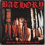 Bathory Under The Sign Of The Black Mark Flag Fabric Poster 48 x 48in For Sale