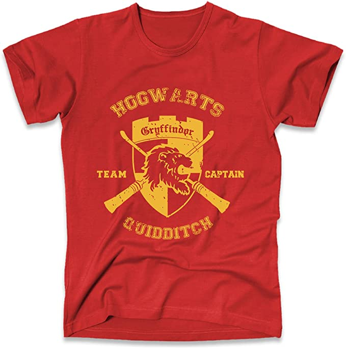 Harry Potter Quidditch Captain Men/'s T-Shirt