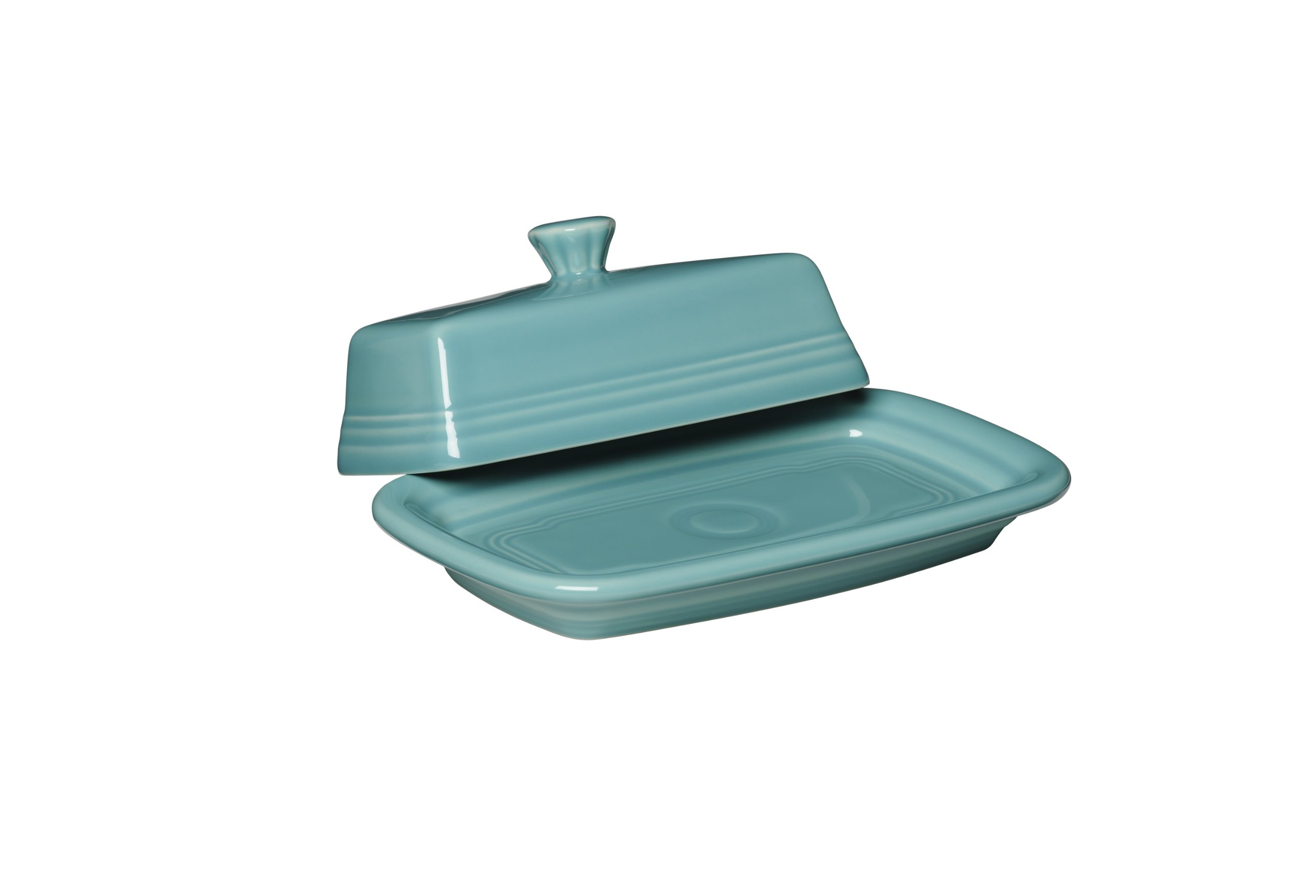 Fiesta Covered Butter Dish, X-Large, Turquoise