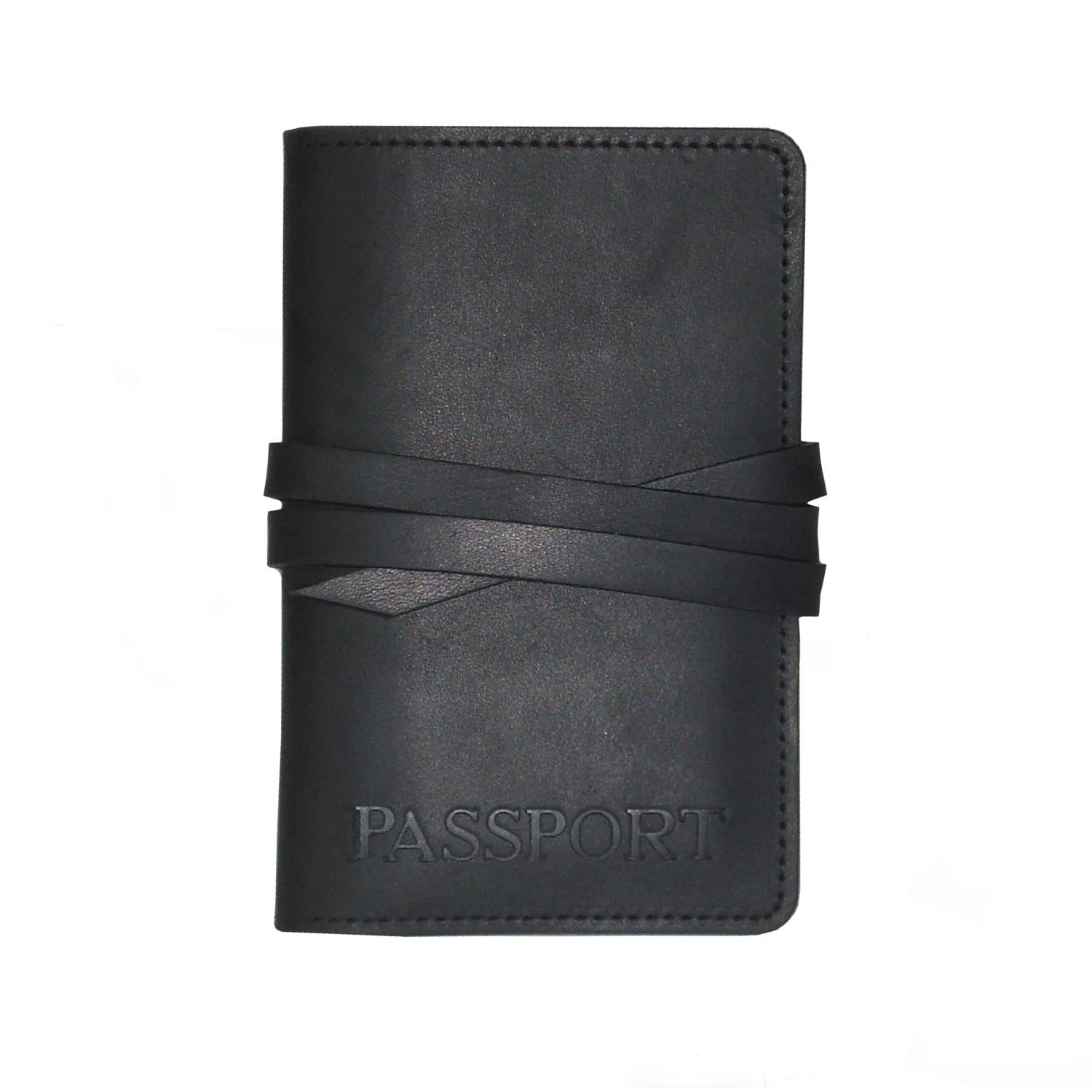 Steel Timber Leather - Passport Travel Wallet in Brown â€'' Genuine Leather Travel Wallet Handcrafted in St. Louis, Missouri - Black by Steel Timber Leather