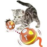 猫 自動 おもちゃ 人気 猫用おもちゃ ボール LED 光るボール 犬用おもちゃ 電動おもちゃ ペット用 玩具 (オレンジ)