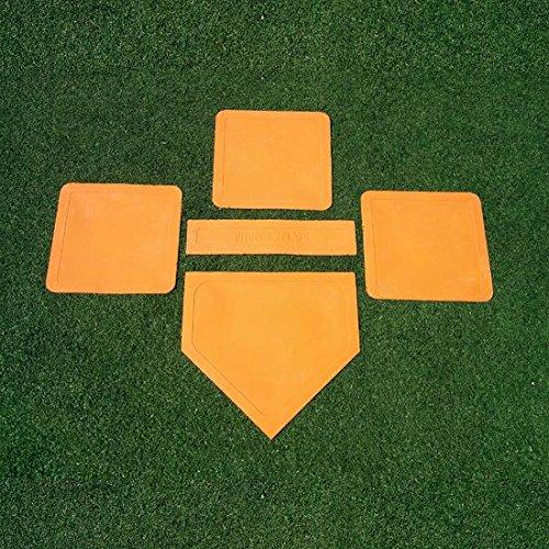 Tompson Throw Down Baseball Base Set | Rubber Softball Bases