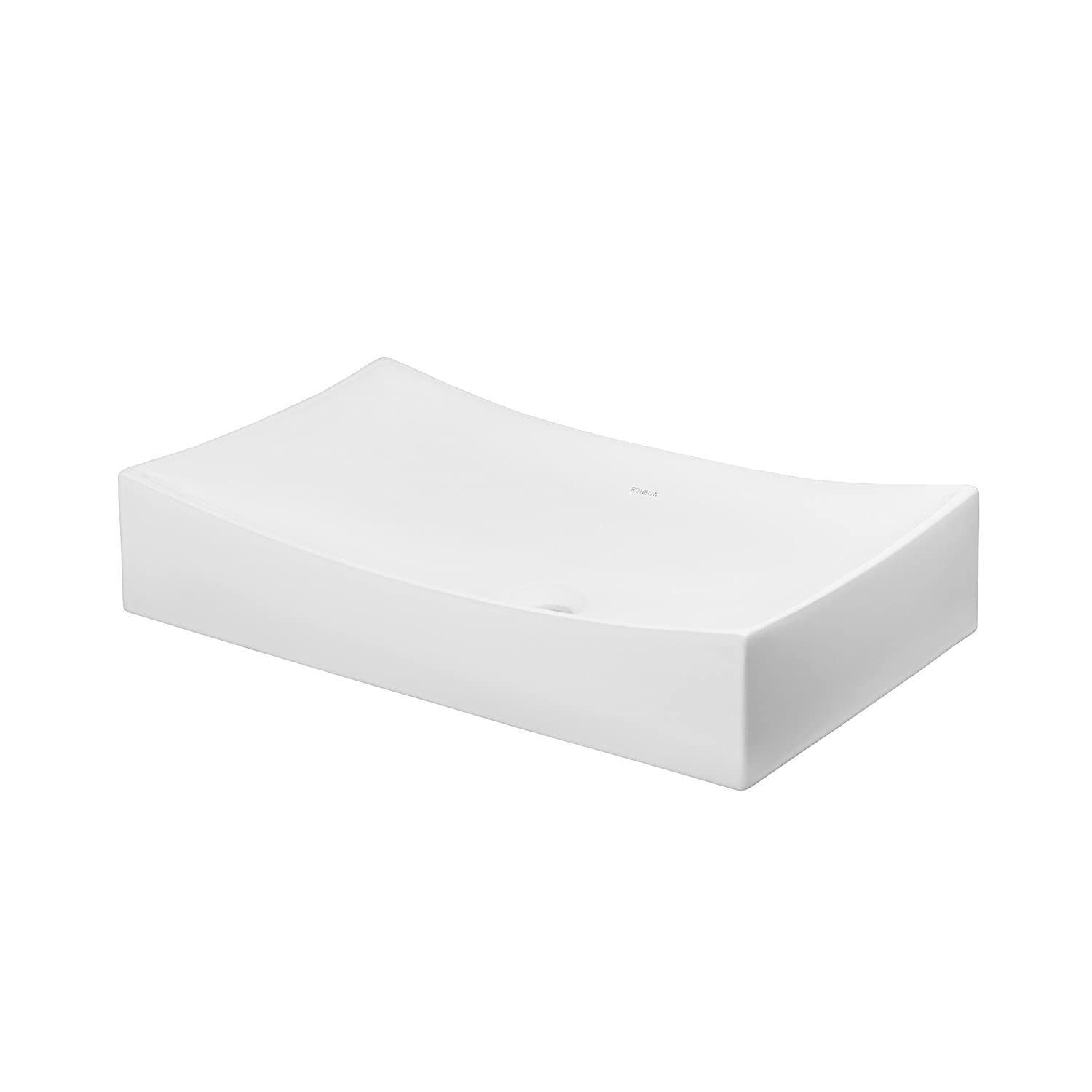 Ronbow Status 26 Inch Above Counter Ceramic Bathroom Vanity Vessel Sink In White 200032 Wh Chic
