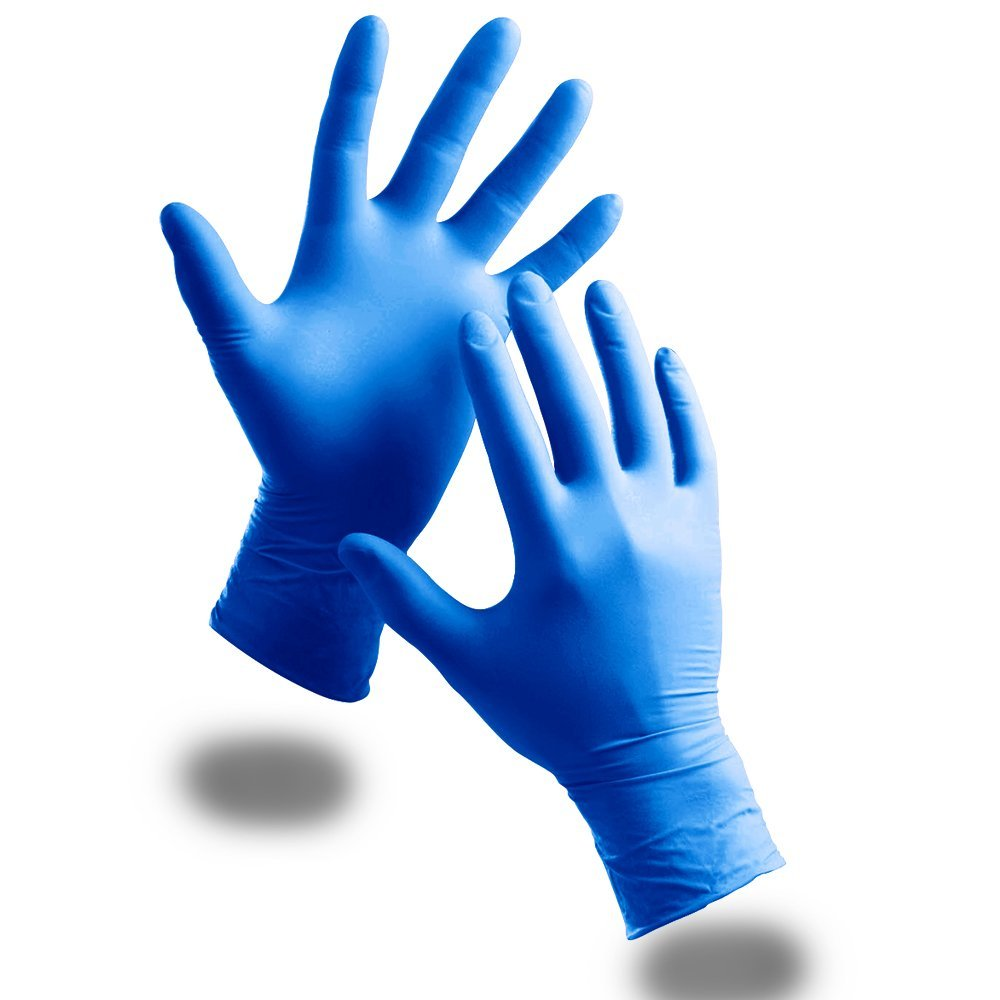 The Chemical Hut 100 Pack Of Kids Childrens Strong Powder Free Blue Nitrile Disposable Gloves Comes With TCH Anti-Bacterial Pen!